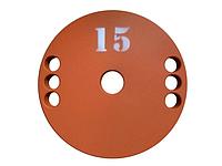 Диск (млинець) для штанги сталевий, фарбований 15 кг - 51 мм