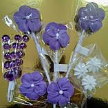 """Набір """"Квіти Фіолетові"""" Топер, фото 2"""