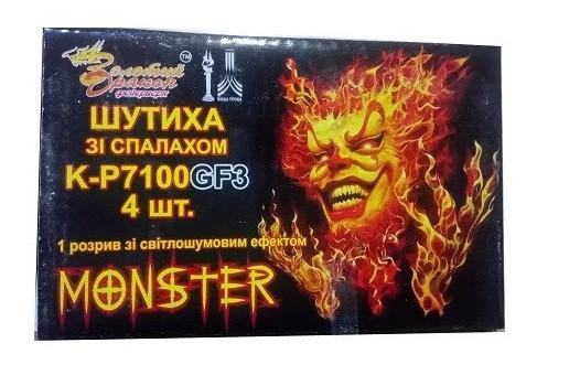 Петарды Monster Золотой Дракон K-P 7100 GF 3, 4 шт