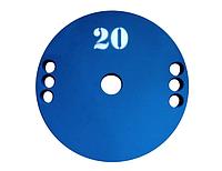 Диск (млинець) для штанги сталевий, фарбований 20 кг - 51 мм