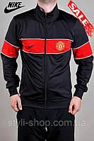 Мужская спортивная кофта Nike (Найк) Manchester United. (8500-4), свитшот, толстовка, реплика, копия, Черный