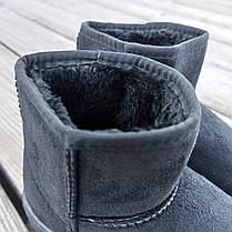 Угги UGG детские теплые ботиночки уггі дитячі сапожки черные эко замшевые, фото 3