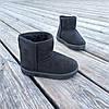 Угги UGG детские теплые ботиночки уггі дитячі сапожки черные эко замшевые, фото 2