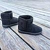 Угги UGG детские теплые ботиночки уггі дитячі сапожки черные эко замшевые, фото 5