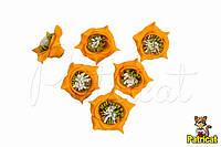 Цветы Розы Оранжевые из фоамирана (латекса) 3 см 10 шт/уп