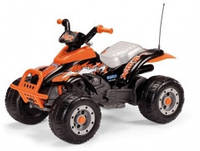 Детский квадроцикл Peg-Perego Corral T-Rex, цвет черно-оранжевый