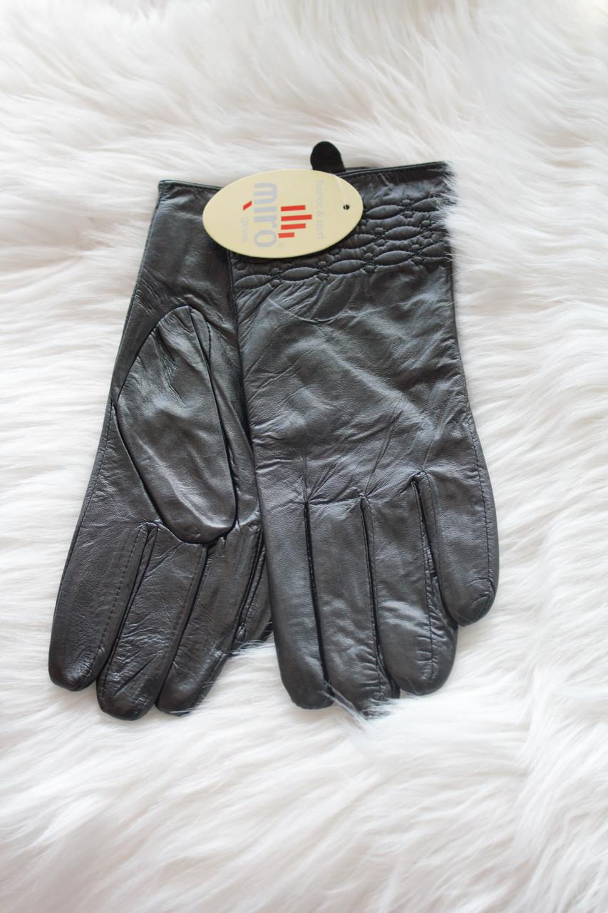 Женские перчатки из натуральной кожи СРЕДНИЕ 5-W002