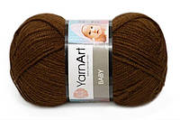 YarnArt Baby, шоколад №1182