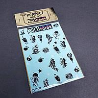 Наклейки слайдери на водній основі для дизайну нігтів Perfect Nail Art, MC-10
