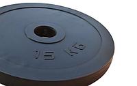 Диск RN-Sport сталевий прогумований 15 кг - 27 мм