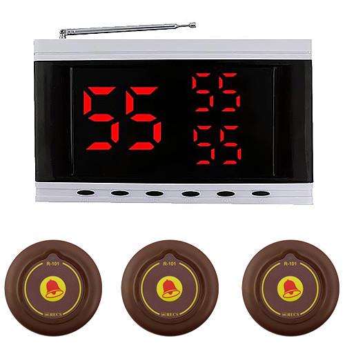 Система вызова официанта RECS №134   кнопки вызова официанта 3 шт + приемник вызовов