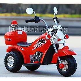 Дитячий мотоцикл на акумуляторі Harley-David (мотора 18W, світло) Baby Tilly T-7230 RED Червоний