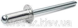 Заклепка сталь-сталь st/st 4.8x8 мм. с плоской головкой Rivettop