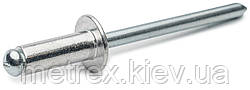 Заклепка сталь-сталь st/st 4.0x16 мм. с плоской головкой Rivettop