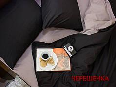 """Евро макси набор однотонного постельного белья 200*220 из Бязи """"Gold"""" №15748AB Черешенка™"""