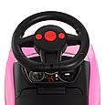 Детская машинка каталка толокар с родительской ручкой Audi Bambi M 3503A-8 Розовый, фото 7