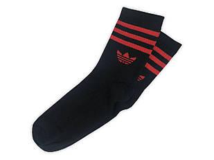 Мужские носки Adidas чёрные с красным