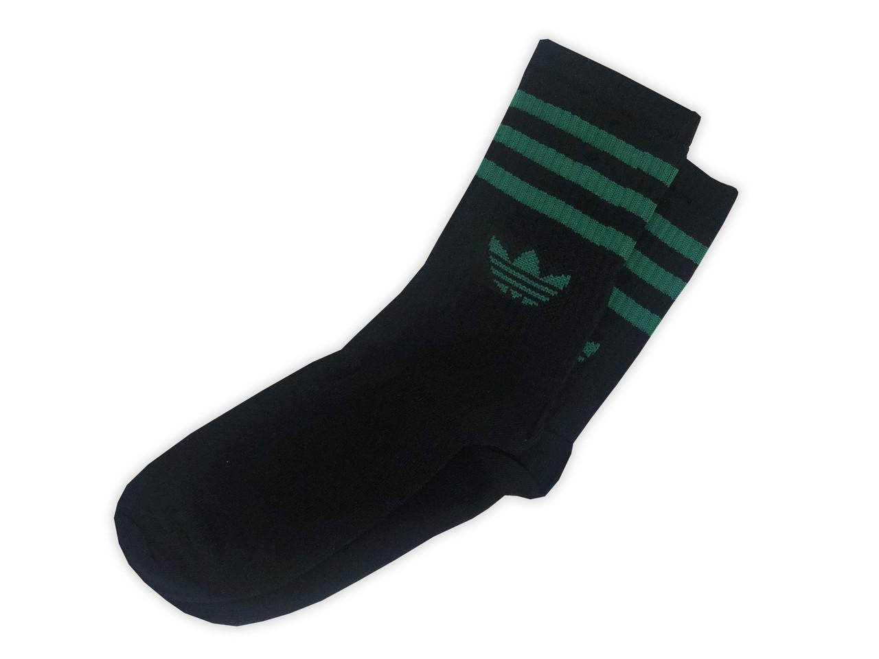 Мужские носки A чёрные с зелёным