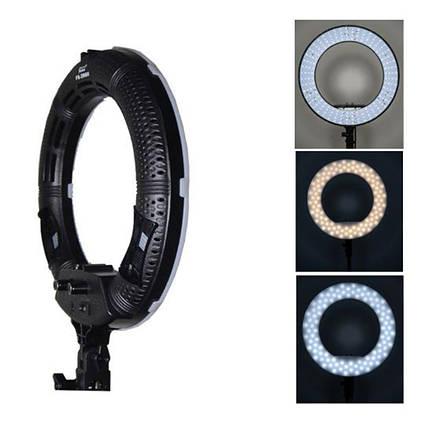 """Кільцевий світильник, Yidoblo FS-390 ll LED зі стійкою світло кільце лампа світлодіод 12"""" 30 см 38W Bi-color, фото 2"""