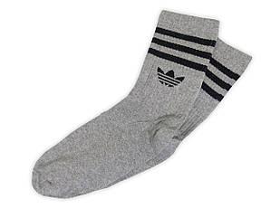 Мужские носки Adidas серые с чёрным