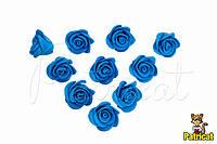 Цветы Розы Синие из фоамирана (латекса) 2 см 10 шт/уп