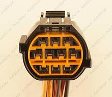 Разъем автомобильный 10-pin/контактный. 35×29 mm. НОВЫЙ