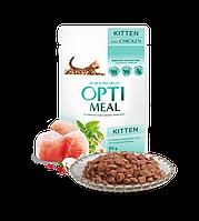 Влажный корм Optimeal Оптимил для котят с курицей 12 шт х 85 гр