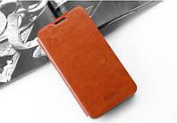 Шкіряний чохол книжка MOFI для Samsung Galaxy Note 5 N920 коричневий, фото 1