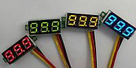 Вольтметр встраиваемый DC 0-100V LED
