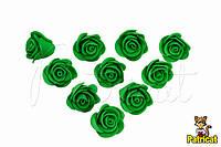 Цветы Розы Зеленые из фоамирана (латекса) 2 см 10 шт/уп