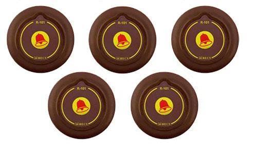 Фото: кнопки вызова персонала RECS R-101 - 5 штук - комплект системы вызова RECS №135
