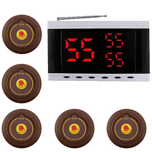 Система вызова официанта RECS №135 | кнопки вызова официанта 5 шт + приемник вызовов