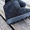 Уггі UGG дитячі теплі черевички уггі дитячі чобітки чорні еко замшеві, фото 5