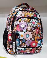 Рюкзак ортопедический школьный для девочки с принтом Цветы Dolly 531