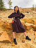 Женское платье свободного кроя в клетку, фото 4