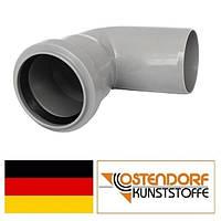 Колено PP 75х87 внутренней канализации Ostendorf HT Германия