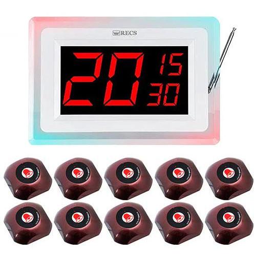 Система вызова официанта RECS №127   кнопки вызова официанта 10 шт + приемник вызовов