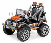 Детский электромобиль Peg-Perego Gaucho Rockin, цвет черно-оранжевый