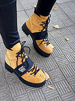 Женские зимние ботинки из нубука 36-40 р светло коричневый, фото 1