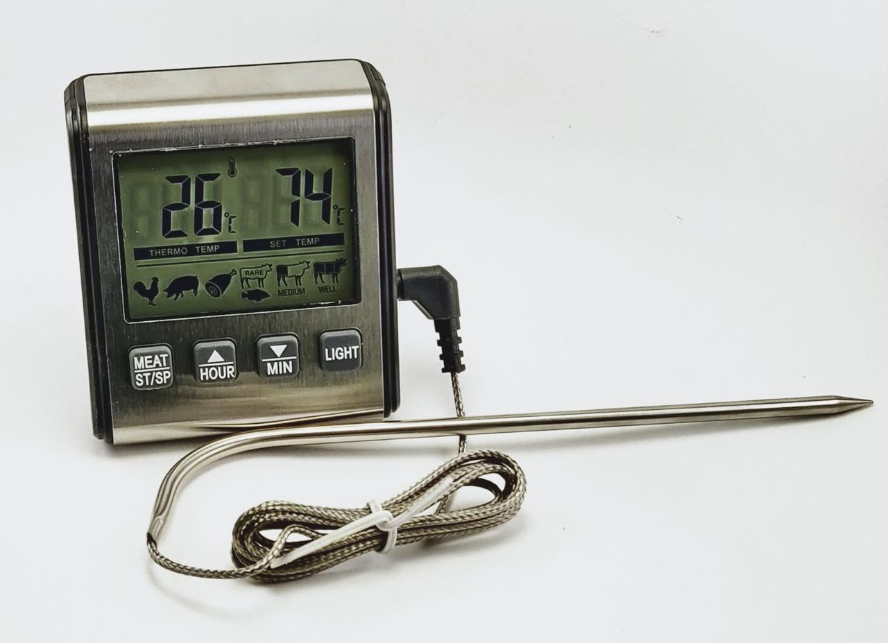 Термометр с таймером для приготовления мяса TP-710 с выносным датчиком