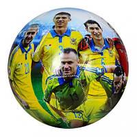 М'яч футбольний EV 3152-1 розмір 5, ПВХ 1,8 мм, 2слоя,32панели,300-320г,збірна(Україна)(EV 3152-1)