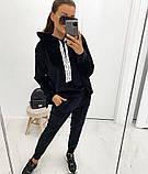 Спортивный костюм женский велюровый чёрный, серый, 42-44, 46-48, 50-52, фото 2