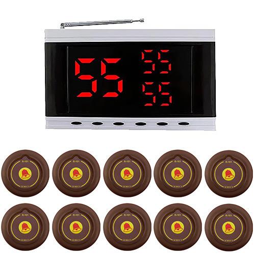 Система вызова официанта RECS №136 | кнопки вызова официанта 10 шт + приемник вызовов