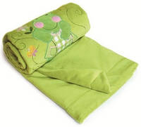Детское одеяльце из плюша с аппликацией Матех, цвет зеленый