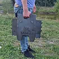 Разборной компактный мангал для пикника, походов и рыбалки,с ножками (вместимость 6-12 шампуров)