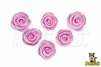 Цветы Розы Розовые из фоамирана (латекса) 3 см 10 шт/уп
