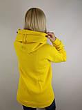 Жовта флісова толстовка, фото 3