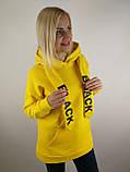 Жовта флісова толстовка, фото 4