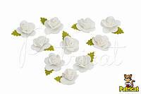 "Цветок белый ""Кувшинка"" 1,5 см из фоамирана (латекса) 10 шт/уп"