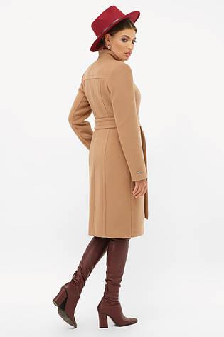 Женское пальто темно-бежевое, фото 2